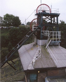Caphouse colliery headgear