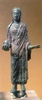 Bronze statue: woman with pomegranate, IV century b.C.